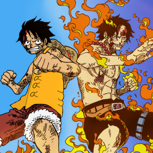 Luffy and Ace!